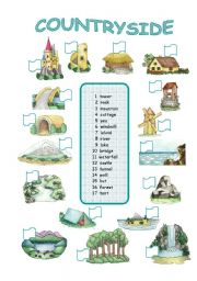 English Worksheet: Countryside (2/2)