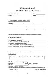 English Worksheets: work sheet
