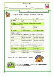English Worksheet: Adjectives Degree