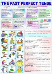 English Worksheets: THE PAST PERFECT TENSE