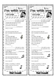English Worksheet: Present continuous: Using a song (3 pages)