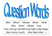 English Worksheets: Question Words (1-9 of 18)