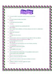 English Worksheets: TWO PAGES