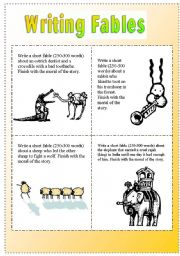 26 FREE ESL fables worksheets