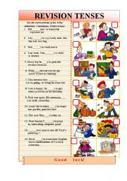 English Worksheet: Let�s review the Tenses!
