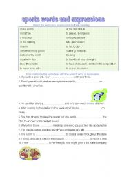 English Worksheets: sports expressions