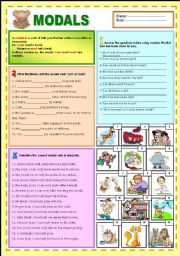 English Worksheets: Modals