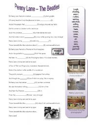 English Worksheet: Song - Penny Lane - The Beatles
