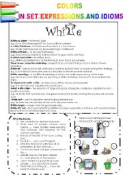 COLORS IN SET EXPRESSIONS AND IN IDIOMS! (PART 5) WHITE