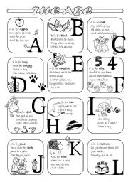 English Worksheets: The ABC poems - Part 1