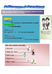 English Worksheets: Polite ways of describing