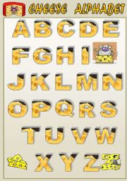 English Worksheets: CHEESE ALPHABET - CLASSROOM POSTER FOR KIDS