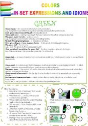 COLORS IN SET EXPRESSIONS AND IN IDIOMS! (PART 6) GREEN
