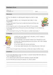 English Worksheets: Feedback Form