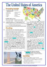 English Worksheet: The USA