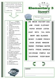 English Worksheet: Fun Sheet Elementary 3