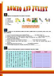 English Worksheet: Romeo and Juliet - PART II