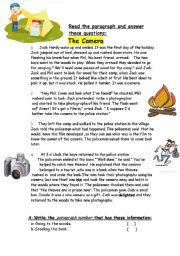 English Worksheets: The camera