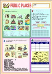 English Worksheets: Public Places