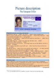 English Worksheet: Picture Description - European Union
