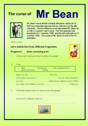 English Worksheets: The curse of Mr Bean (questions while watching the episode)