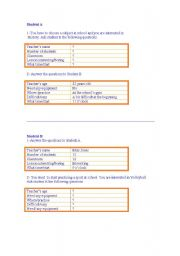 English Worksheet: Cards to practise the speaking part for the KET exam