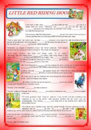 Past Simple Little Red Riding Hood Esl Worksheet By Rosario