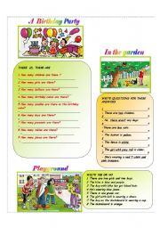 English Worksheets: Answer the questions; make questions