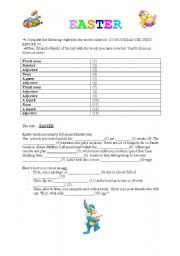 English Worksheet: EASTER MAD GAME !