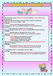 English Worksheet: CONTRAST CLAUSES