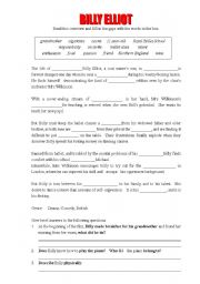 English Worksheet: Exercises on the film Billy Elliot