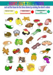 English Worksheets: SORT OUT THE ITEMS