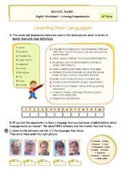 English Worksheet: