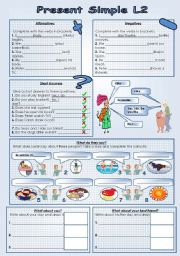 present simple exercise for kid pdf