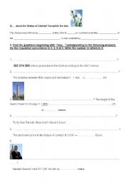 English Worksheets: TEST part II: the Satue of Liberty, questions with