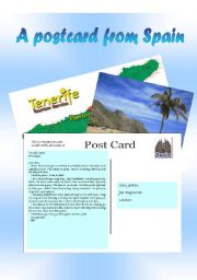 English Worksheet: Holiday postcard