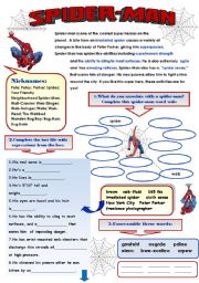 spider man fun vocabulary set for guys 2pages with answer keys. Black Bedroom Furniture Sets. Home Design Ideas