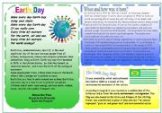 English Worksheet: EARTH DAY PART 1 (4 skills)