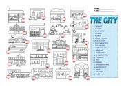 English Worksheets: The city