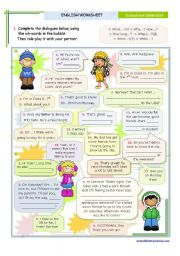 English Worksheets: Dialogues series - Wh- Questions for Upper Elementary and Intermediate Students