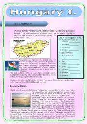 English Worksheet: HUNGARY I.