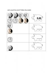 English Worksheets: Coins - exercise