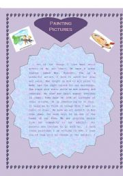English Worksheets: painting pictures