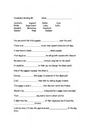 Vocabulary Worksheets For High School