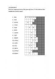 English worksheet: comparative of adjectives