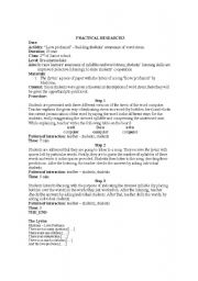 English Worksheet: Introductio to word stress basing on a song - Madonna Love Profusion