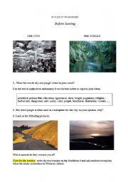 English worksheet: unit on darkness