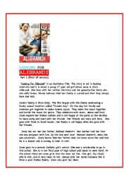 English Worksheets: Looking for Alibrandi-movie