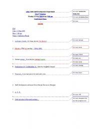 English Worksheet: Key to my Proofreading Exericse on Agenda