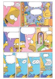 English Worksheets: Make Your Own Simpsons Comic (Part one-3 pages)
